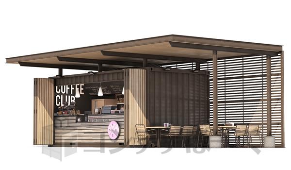 コンテナハウス カフェ 設置例